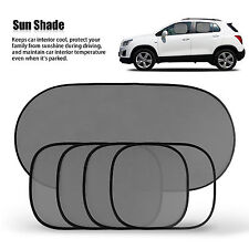 5Pcs Side Rear Window Mesh Sunshade Sun Shade Cover for Car UV Protection Set