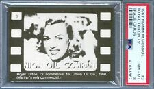 1963 MARILYN MONROE Trade Card #3 1950 Royal Triton Union Oil Commercial PSA 8