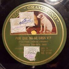 JAZZ 78 rpm RECORD Gramofono ORQUESTA DEMON´S JAZZ Por que no se casa V.? /...
