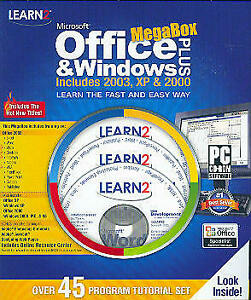 Learn Office and Windows Plus (45 Program Tutorial Set) Excel Word Visio & More