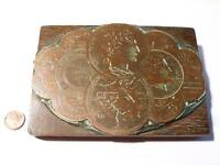 Antique Copper Label Printing Plate 6 MEDALS Flitch & Sons LEEDS #CF7
