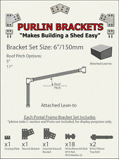 Attached Skillion Lean-to Shed 6inch C Section Purlin Bracket Set-Garage-Farm