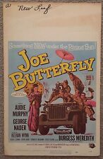 1957 Window Card Movie Poster Joe Butterfly Audie Murphy George Nader