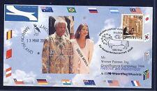 49167) AUA SF EUROPA-TAG Wien - Brüssel 9.5.2006, card South Africa Mandela 2