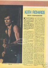 KEITH RICHARDS MAGAZINE PINUP Tattoo You Live Guitar