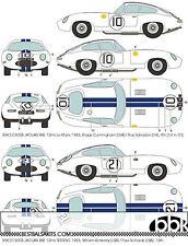 1/8 JAGUAR XK-E E-TYPE LE MANS '62 SEBRING '63 DECAL for REVELL MONOGRAM BANDAI