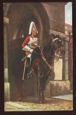 Military Sentry on Guard Whitehall Oilette early PPC