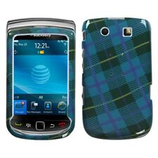 Blue Plaid Weave Hard Case Cover BlackBerry Torch 9800