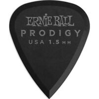 Ernie Ball 9199 Prodigy Standard Delrin Electric Guitar Picks Black 1.5mm 6-Pack