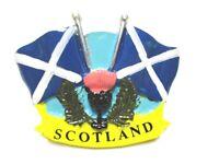 Schottland Magnet Schrift mit Flagge Flag Poly Souvenir Great Britain,Neu