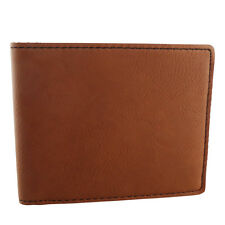 Men's Slimfold Vegan Leather Wallet - Bifold Rawhide Brown Thin Leatherette