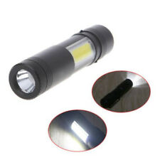 12000LM XPE Q5 +COB LED Flashlight 14500/AA 4 modes Pocket Clip Torch Mini Light