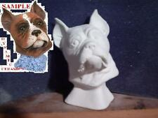 Boxer Dog Bust ready to Paint Ceramic Bisque animal Head