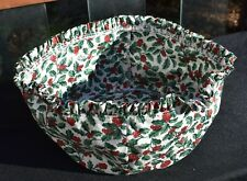New ListingLongaberger American Holly fabric Christmas Holiday Liner for 12� Bowl Basket