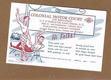 Edenton,Chowan County,NC North Carolina, Colonial Motel Court,Albemarle Sound