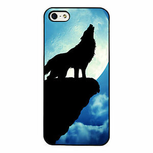 Wolf howling at the moon phone case fits iPhone  plastic phone case