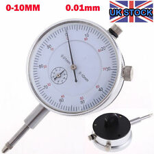 Dial Indicator Gauge 0-10mm Meter Precise 0.01 Resolution Concentricity Test PK