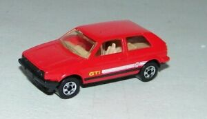Rare Vintage 1989 Mattel Hot Wheels Volkswagen VW Golf GTI Diecast Excellent N.M