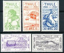 Greenland THULE, Complete Set of 5 MNH.