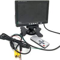 "7"" TFT LCD Reversing Colour HD Monitor DVD VCR Car RearView Backup Camera Screen"