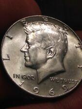 1969-D Kennedy Half Dollar 40% Silver Brilliant Coin