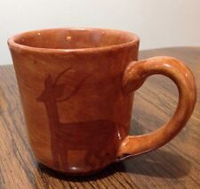 Kazuri Kenya Hand Crafted Painted Earthen Clay Coffee Mug