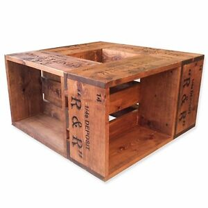 Rustic Crate Coffee Table,Indian Rosewood stain made from Pine. Made to order!