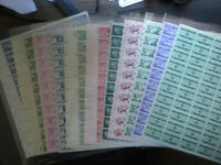 U-PICK-ONE SHEET ,US 3 CENT 1940's &50's MINT SHEETS NH OG