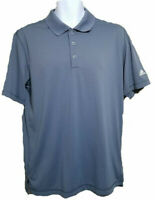 Men's Shirt Polo Golf Size Medium ADIDAS Pure Motion DJ Grey Poly Collared