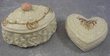 Lenox Music Trinket Box and Heart Shaped China Jewels Figurine ~ Retired