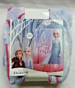 """NWT FROZEN 2  Silky Soft Throw Blanket New Soft And Cuddly Elsa 40"""" x 50"""""""