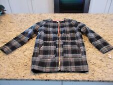 NWT! Cherokee Girls Black Gray Plaid Coat Size XS 4/5