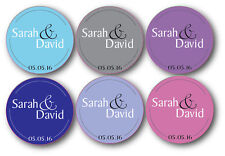 50 Personalised Wedding Colour 20mm Circle Stickers Decoration Seals Favours