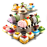 "12"" Square 3-Tier Cupcake Stand tree party deco cake dessert wedding baby shower"