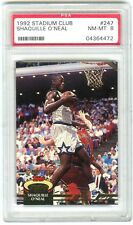 SHAQUILLE O'NEAL (HOF 2016) 1992 STADIUM CLUB PSA-8 NM-MT NBA ROOKIE RC CARD#247
