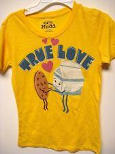 New MUDD yellow s/s shirt girls S (8)  True Love - Cookies and milk
