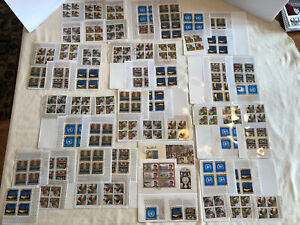 Huge LOT Rare Bhutan 1970's Plate Blocks Commemorative Stamps Collection Kennedy