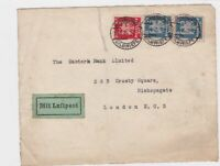 germany 1925 multi stamp airmail stamps cover front only ref 13196