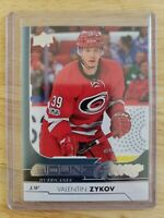 2017-18 Upper Deck Series 2YOUNG GUNS RC Valentin Zykov Carolina Hurricanes #467