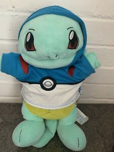 Build A Bear Pokemon Squirtl with His Hooded Pokeball Top