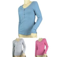 Ex M&S Marks And Spencer Henley Neck Pyjama Top (3 Colour Choices)