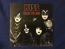 KISS Live Talk To Me Rare Blood Red Double LP 33 BOOTLEG LIVE