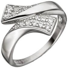 Ring Damenring mit Zirkonia weiß 925 Silber rhodiniert Fingerring Fingerschmuck