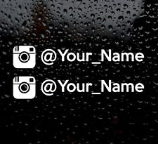 2 X INSTAGRAM YOUR NAME  CUSTOM PERSONALISED WINDOW VW VINYL DECAL CAR STICKER