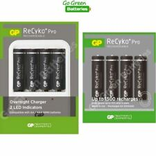 GP Battery Charger +8 AA 2000 mAh ReCyko Pro Stay Charged Rechargeable Batteries