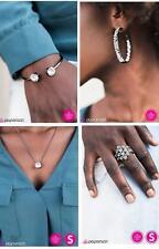 New Paparazzi 4pc Set Necklace & Matching Earrings, Bracelet, Earrings, & Ring
