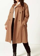 M&S Curve Ladies Tan Color Trench Coat Size 22 Bnwt