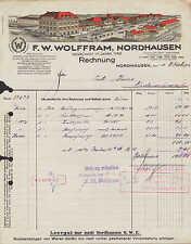 NORDHAUSEN, Rechnung 1924, F. W. Wolffram