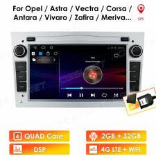 Android DSP DAB+GPS Autoradio Opel Astra Zafira Vectra Corsa Navi 4G 32GB Silber