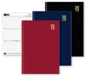 2019 A4 Diary Week to View Desk Diary Hard Backed Diary, FAST DELIVERY